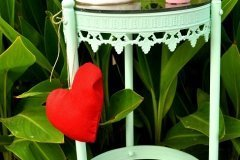 Mesita metálica con Mint Autentico Chalk Paint