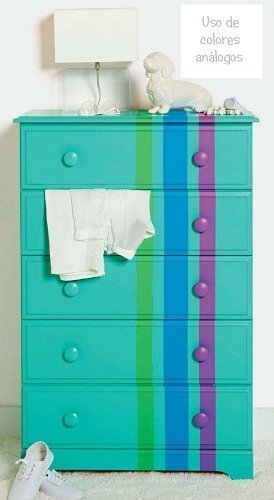 mueble colores analogos circulo cromatico chalk paint autentico online