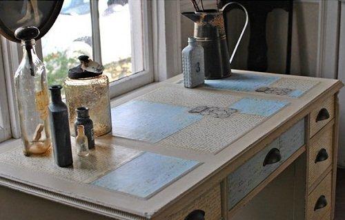 Decoupage y chalk paint grandes compa eros - Escritorio vintage ...