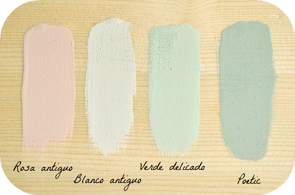 rosa blanco antiguo verde delicado poetic chalk paint