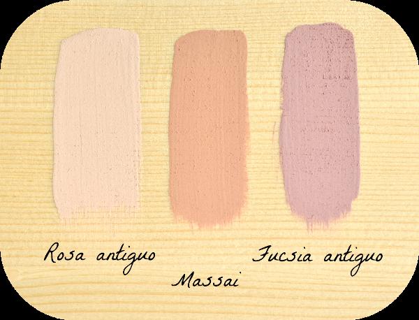 rosa antiguo massai fucsia antiguo combinar colores con la chalk paint