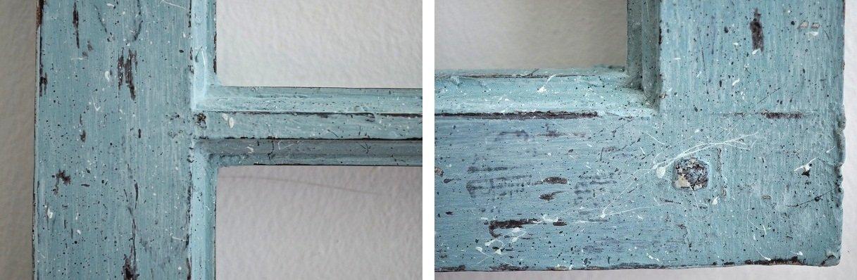 detalles marco ventana con chalk paint