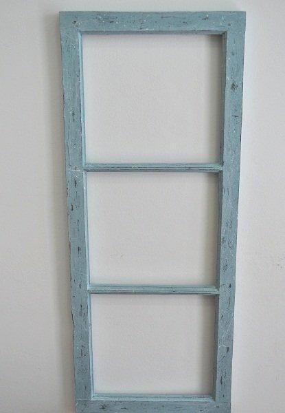 Reciclando el marco de una ventana con la chalk paint