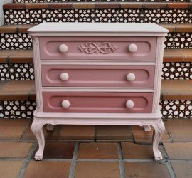mesilla reciclada con chalk paint