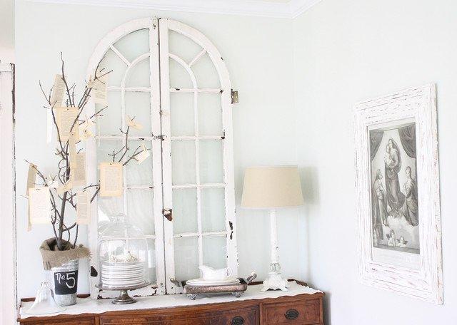 ventana decapada para decoracion