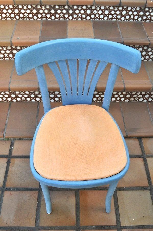 pintar silla con chalk paint