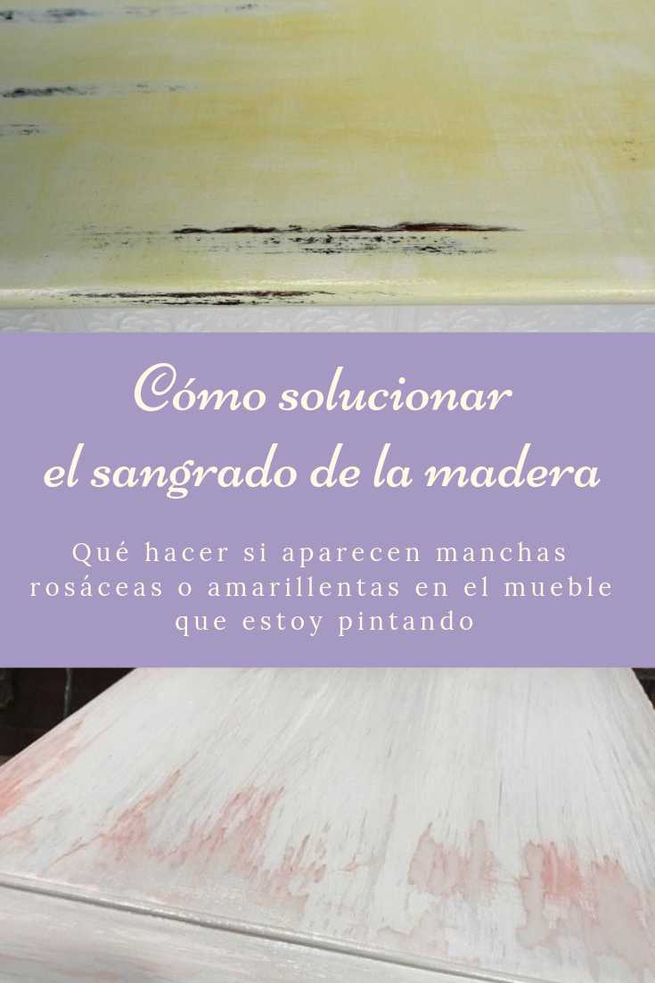 manchas rosas al pintar un mueble