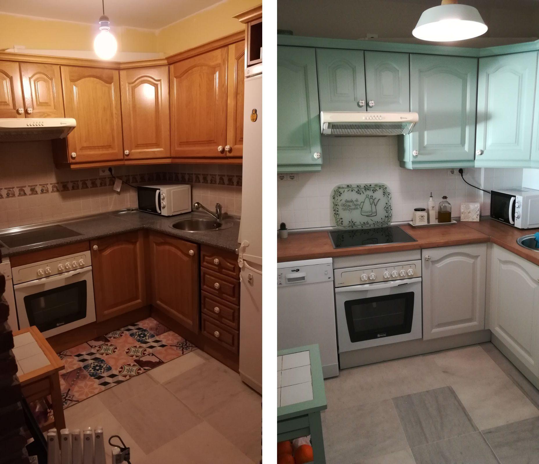 4ee9e9450bb3 Veamos paso a paso cómo pintar muebles de cocina. Pero antes quiero aclarar  que lo mismo que explico aquí sirve para las puertas o los azulejos (en  éstos ...