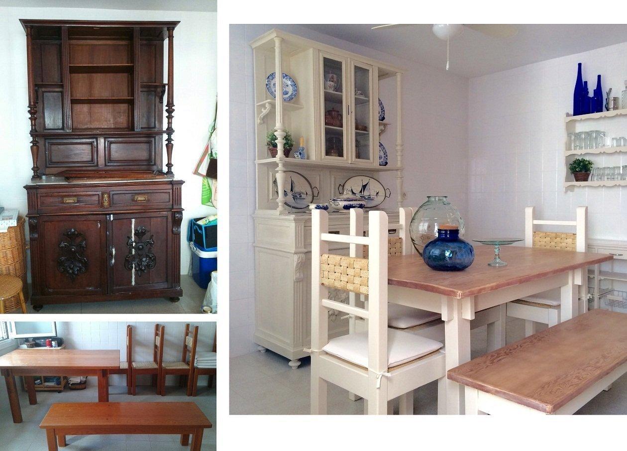 pintar mesa y sillas de cocina