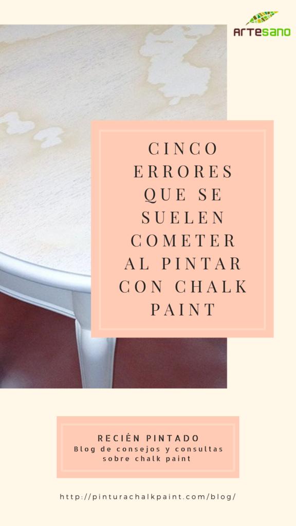 errores al pintar con chalk paint