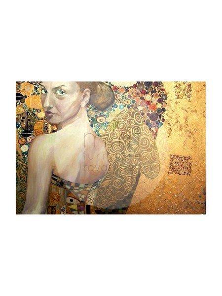 Beautiful Woman in Gold