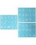 Plantilla adhesiva Bodoni Alphabet