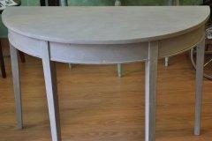 Mesa con mezcla de Gris francés y Blanco antiguo aplicados con trapo