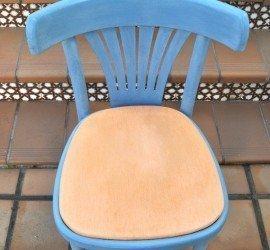 silla pintada con chalk paint